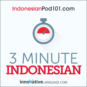 3-Minute Indonesian - 25 Lesson Series Audiobook